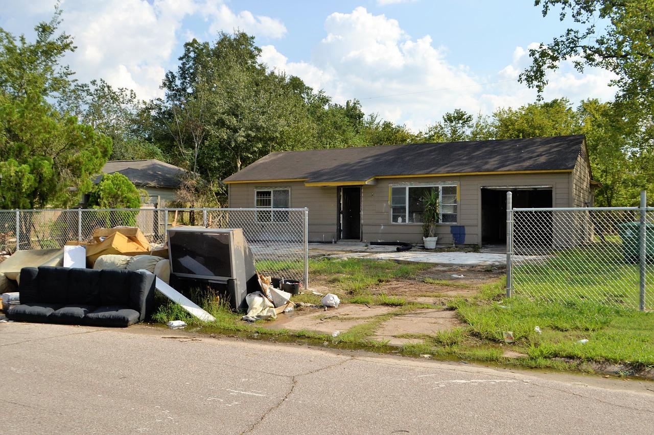 Une maison sinistrée